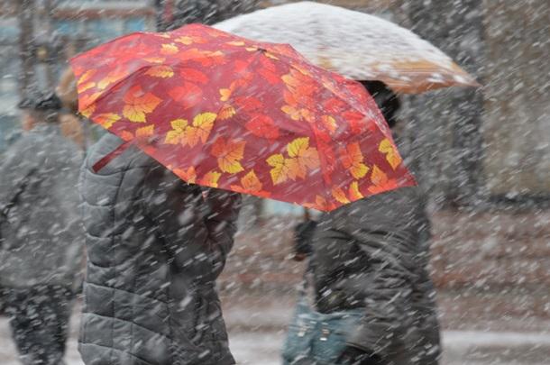 ФОТО: Ивано-Франковск оказался под снегопадом