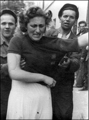 издевательства немцев над женщинами фото
