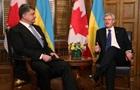 Порошенко обсудил с канадским премьером Соглашение о свободной торговле