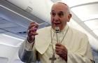Папа римский и президент Латвии надеются на правовое решение кризиса в Украине