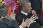 Обама жував жуйку під час військового параду в Індії