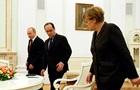 Путин, Меркель и Олланд призвали прекратить огонь с 1 сентября
