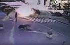 Появилось видео момента взрыва авто с Шереметом