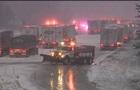 В США из-за снега столкнулись 50 авто