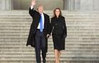 СМИ обсуждают первый  инаугурационный  наряд жены Трампа