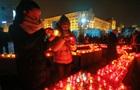 В Киеве мероприятия памяти героев Небесной сотни прошли спокойно