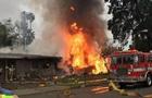 В Калифорнии на дома упал самолет, есть жертвы