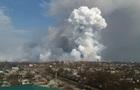 Площадь пожара на складах в Балаклее увеличилась