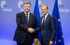 Порошенко і Туск домовилися про саміт Україна-ЄС