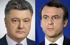 Порошенко і Макрон обговорили ситуацію на Донбасі