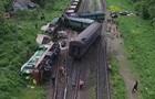 Зіткнення поїздів на Хмельниччині зняли з дрона