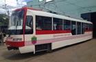 В Запорожье показали первый трамвай местной сборки