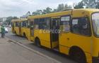 В Киеве маршрутки устроили ДТП на остановке