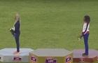Білоруська легкоатлетка пішла з п єдесталу під час звучання гімну