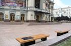 В Киеве появились новые лавочки с солнечными батареями