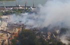 Масштабный пожар в Ростове сняли с воздуха