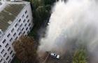 В Киеве прорвало трубу: фонтан в несколько этажей