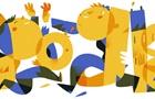 Google поздравил с Днем Независимости Украины праздничным дудлом