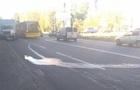 У киевской маршрутки на ходу начало вытекать топливо