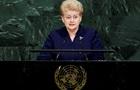 Делегация России в ООН вышла из зала перед речью президента Литвы