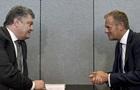 Порошенко обговорив з Туском ситуацію на Донбасі