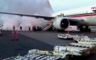 Очевидцы сняли на видео эвакуацию пассажиров самолета, загоревшегося в аэропорту Монреаля