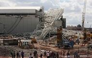 В Бразилии на стадион рухнул строительный кран