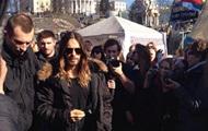 Джаред Лето посетил Киевский Майдан