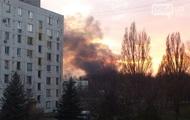 В Кривом Роге локализован пожар на территории танковой бригады