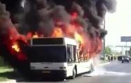 В Москве загорелся пассажирский автобус