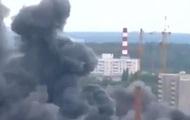 В Подмосковье произошел пожар - видео