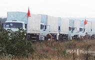 Около сотни российских гуманитарных грузовиков остались на ночь в Воронеже