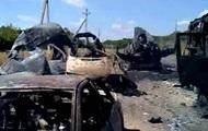 Силовики показали разбитую колонну российской техники