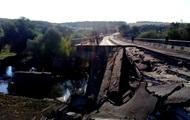Возле села Гранитное подорвали мост через реку Кальмиус