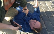 В центре Харькова вновь собираются активисты, задержан мужчина с пистолетом
