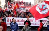 В Риме проходит многотысячная манифистация против реформ правительства