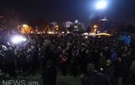 Оппозиция вышла на акции протеста в центре Еревана