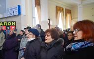 Em Kherson realizou um flashmob canções