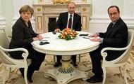 Меркель, Олланд и Путин по телефону обсудили ситуацию в Украине
