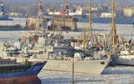 В Одессе лед сковал Военно-морской флот (ФОТО)