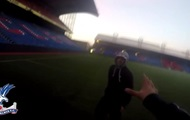 The youtubers snuck in to the stadium crystal Palace