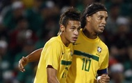 Neymar caught up with Ronaldinho
