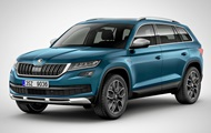 Skoda showed the updated crossover Kodiaq Scout