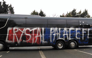 Fans of crystal Palace by mistake messed up the bus on your own team