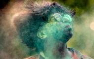 Der var billeder fra festival af farver i Indien