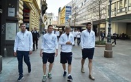 The Ukrainian team took a walk around Zagreb