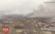 The fire in Balakliya: video from the height of bird flight