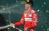 Vettel won the Grand Prix of Australia
