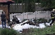 В Чернигове упал легкомоторный самолет, пилот погиб