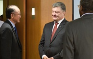 Порошенко обсудил с главой ВБ привлечение инвестиций в Украину